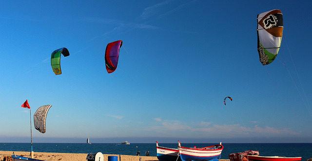 Кайтсерфинг в Мальграт-де-Мар, Испания