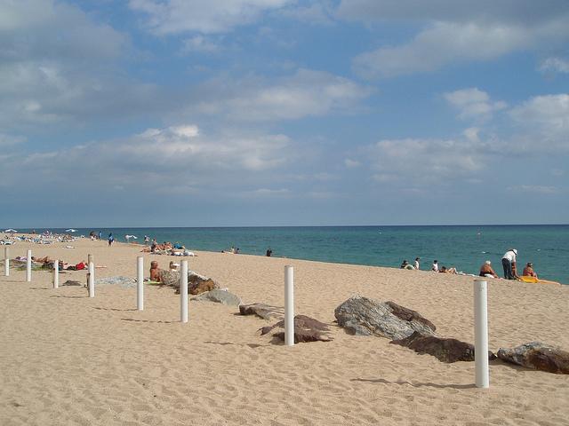На пляже в Мальграт-де-Мар