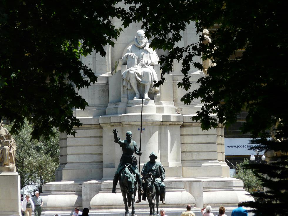Дон Кихот и Санчо Панса в Мадриде