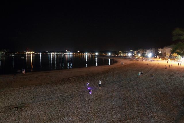 Ночью на пляже