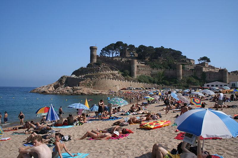 Пляж в Тосса-де-Мар