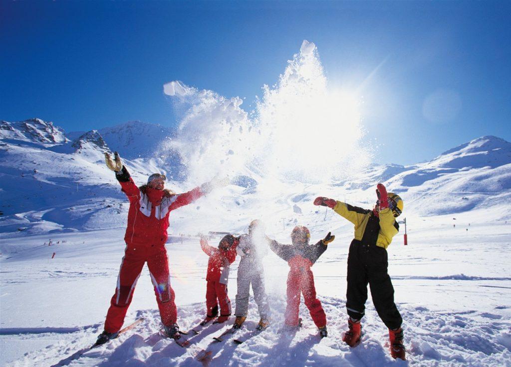 активный отдых лыжного курорта