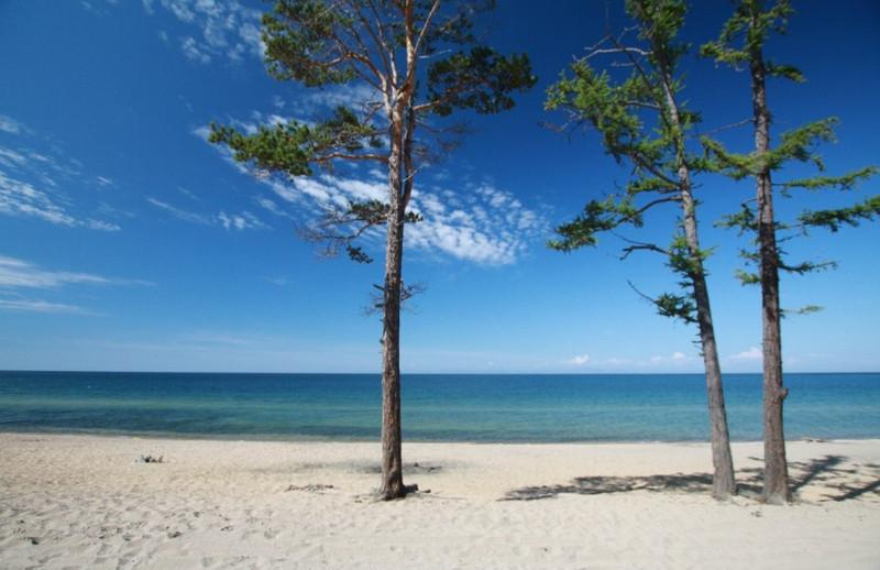 Песчаные пляжи Горячинска