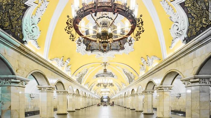 Одна из станций метро в Москве