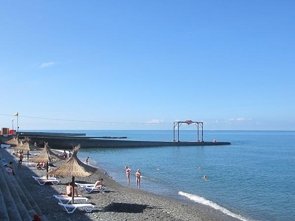 Пляж возле вокзала