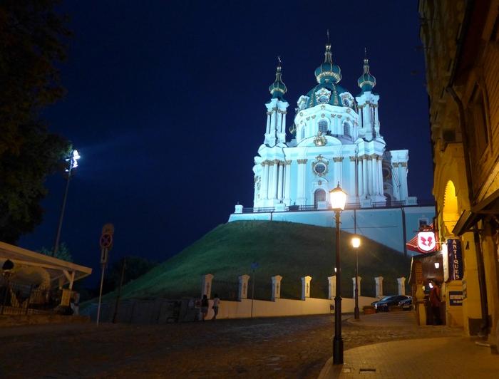 Андреевский спуск в ночное время