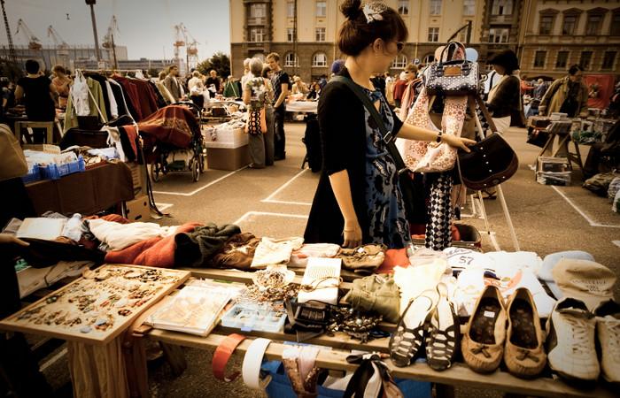Блошиный рынок Хельсинки