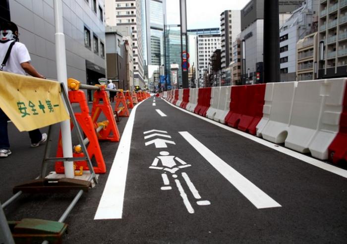 Велодорожка в Токио