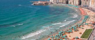 Вид на пляж Египта