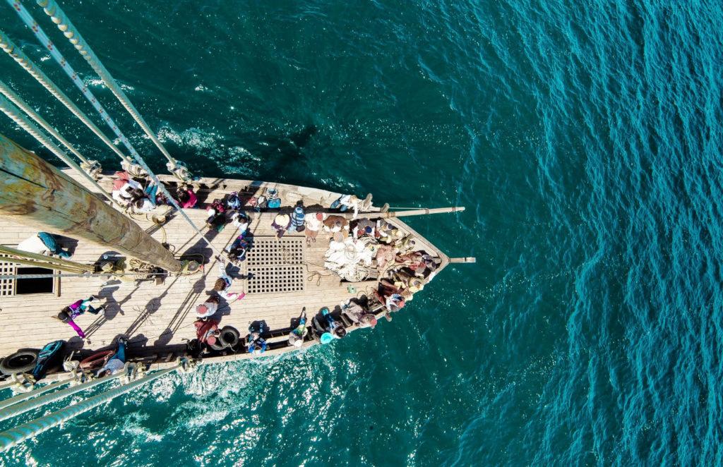 Восстановленный средневековый корабль Киликия на Севане