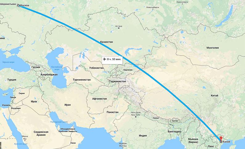 Как добраться во Вьетнам из Москвы
