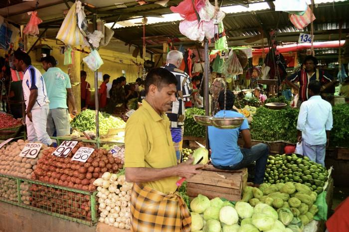 Овощной рынок на Шри-Ланке