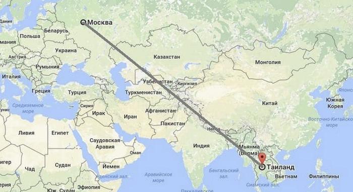 Перелет Москва-Таиланд