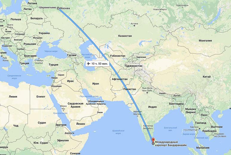 Прямой перелет из Москвы