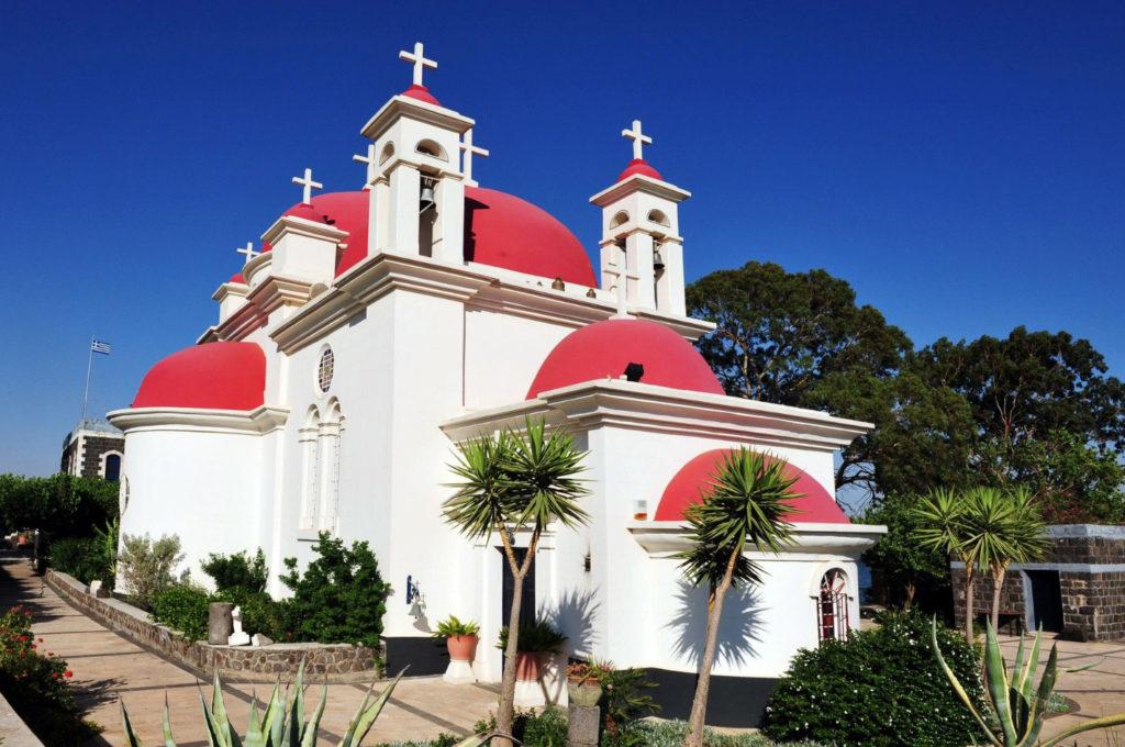 Церковь Двенадцати Апостолов в Капернауме. Израиль