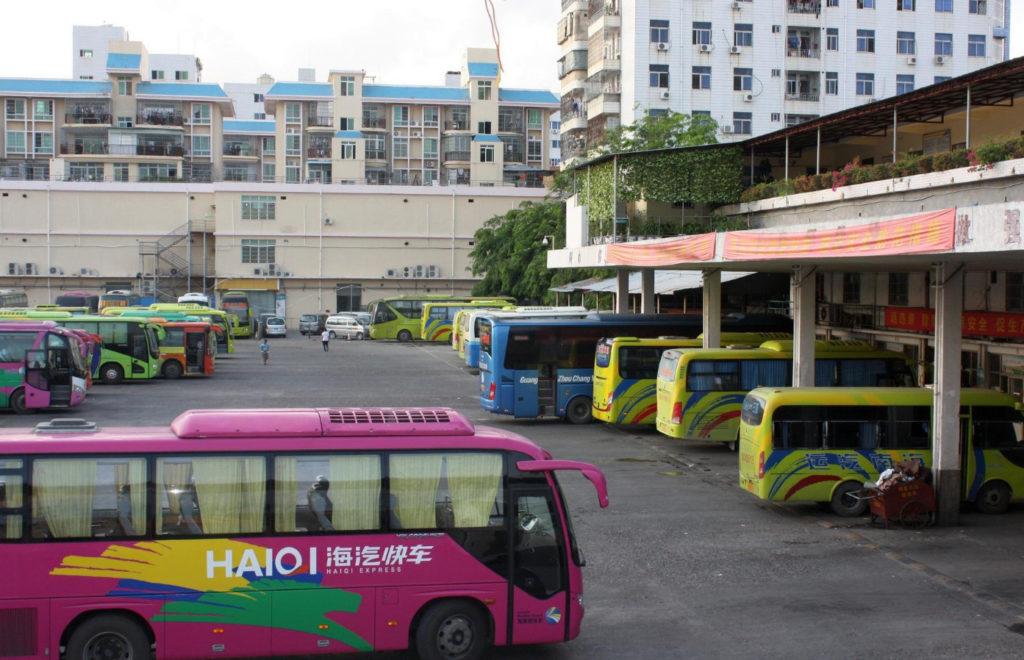 Автобусы, остров Хайнань