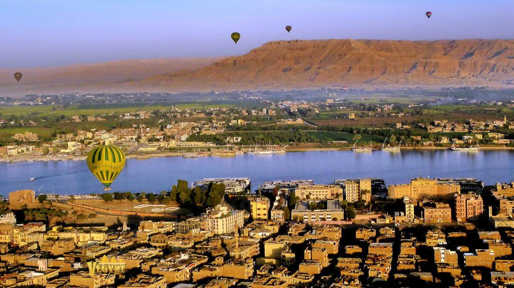 Город Луксор, вид сверху
