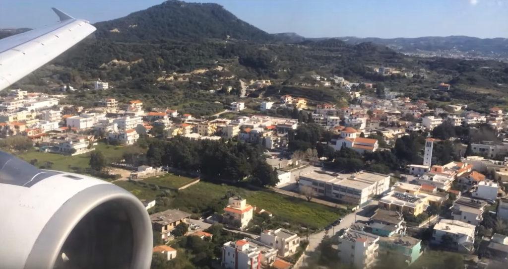 Родос из окна самолета