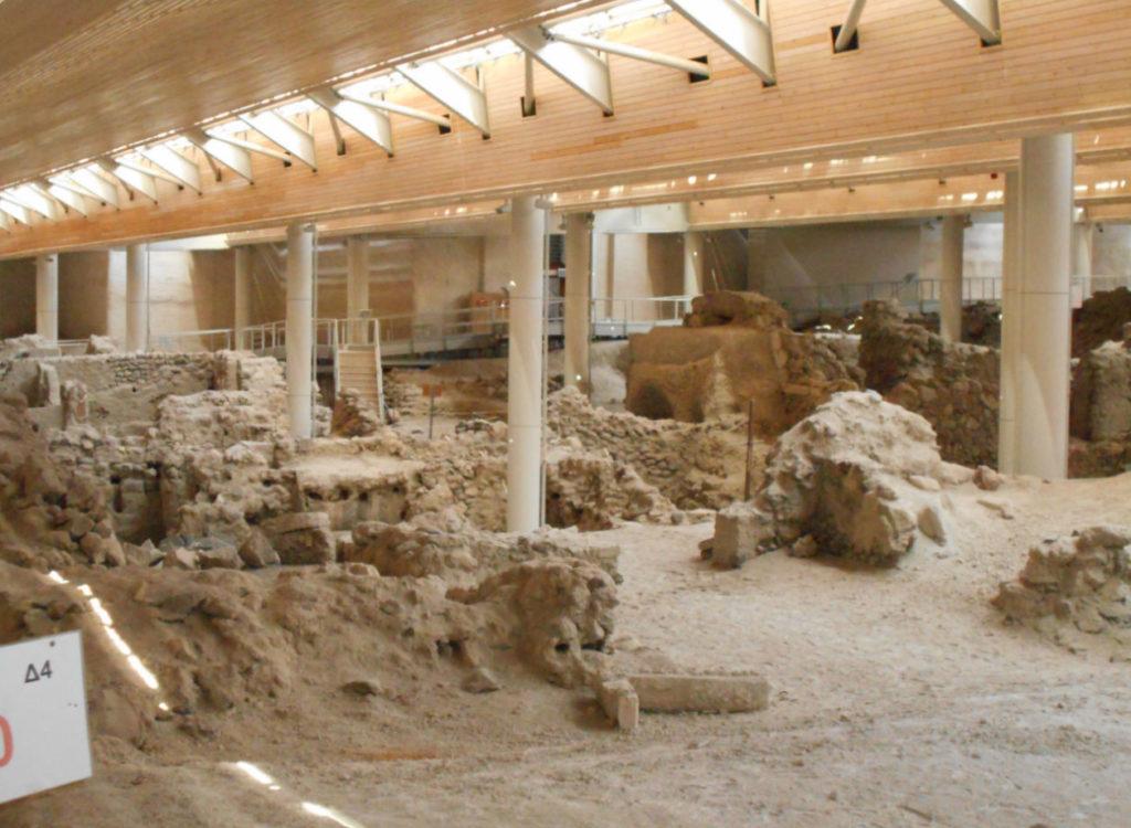 Археологический заповедник Акротири