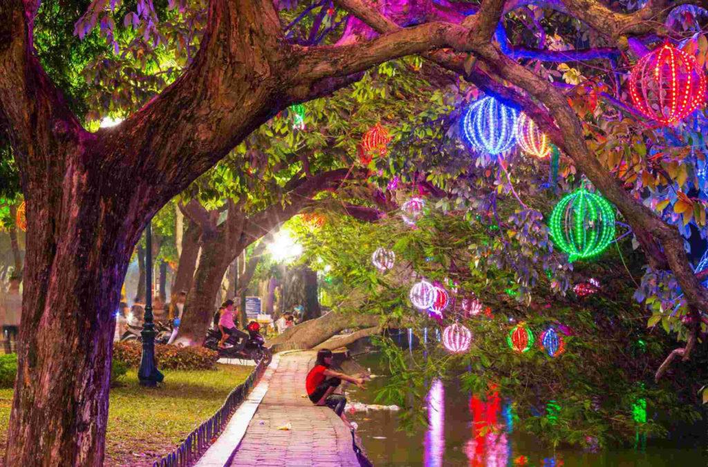 Вечернее освещение, Ханой, Вьетнам