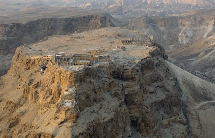 Древняя крепость Масада, Израиль