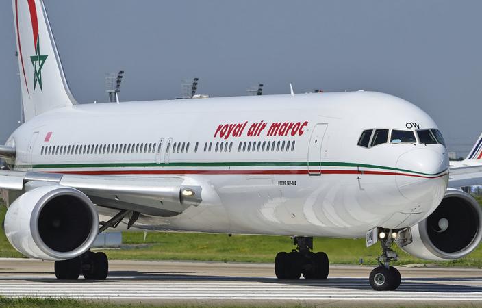 Самолет авиакомпании Royal Air Maroc
