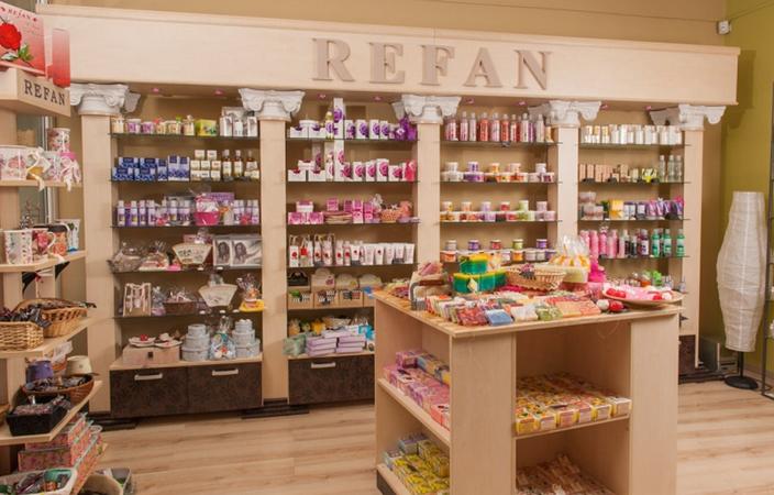 Сувенирная лавка болгарского бренда Refan
