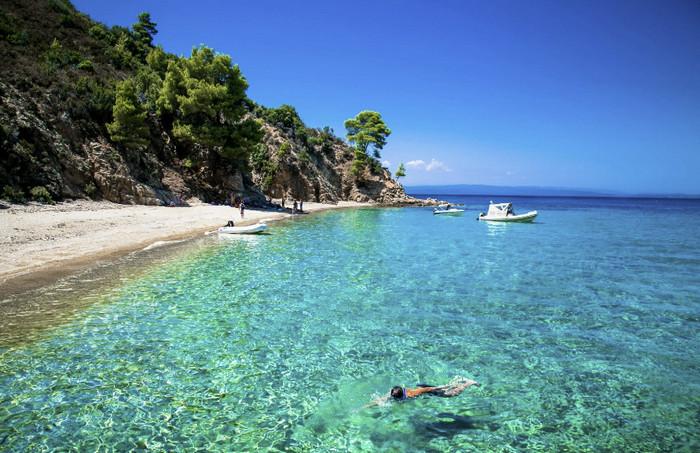 картинка фотография курорта Халкидики в Греции