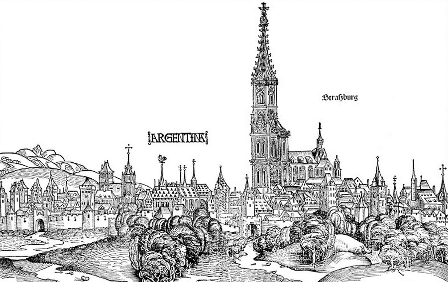 Місто та старовинний головний Собор1493 року