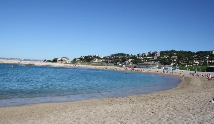Пляж в Марселе