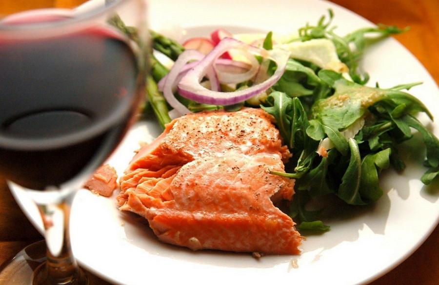 Вино и рыба